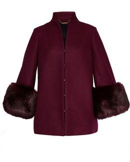 Rilly Wool Coat Faux Fur Cuff