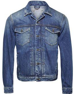 Pleated Denim Jacket