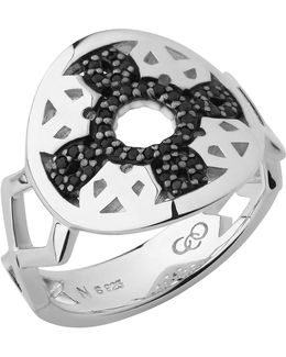 Timeless Sterling Silver & Black Sapphire Ring