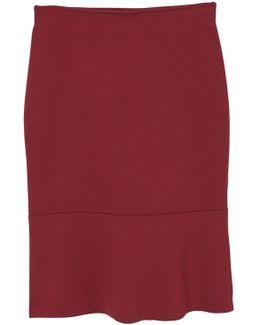 Fluted Hem Skirt