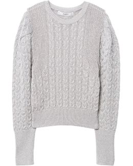 Cable-knit Metal Sweater
