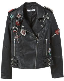 Appliquã© Biker Jacket