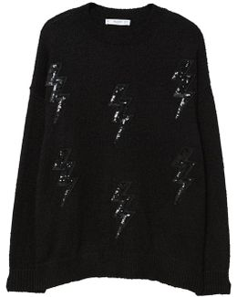 Thunder Embroidered Sweater