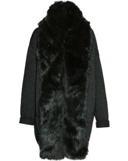 Double Sided Vhari Faux Fur Coatigan
