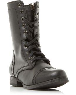 Troopa Sm Lace Up Worker Calf Boots