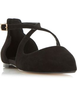 Camiler Two Part Cross Strap Flat Shoes