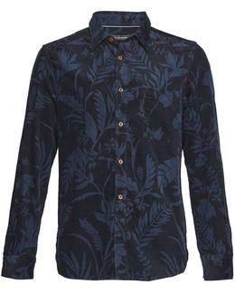 Overdyed Fumio Floral Corduroy Shirt
