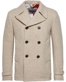 Men's Jersey Peacoat Coat