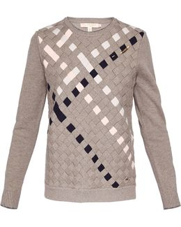 Yessica Woven Front Cotton Jumper