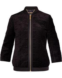 Bartel Quilted Velvet Bomber Jacket