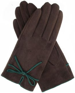 Womens Contrast Detail Gloves