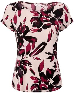 Petite Shadow Floral Top