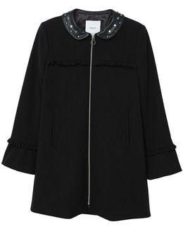 Studded Collar Coat