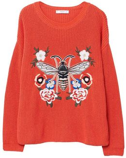 Recycled Cotton Embroidered Sweater