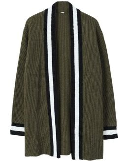 Contrast Trims Cardigan