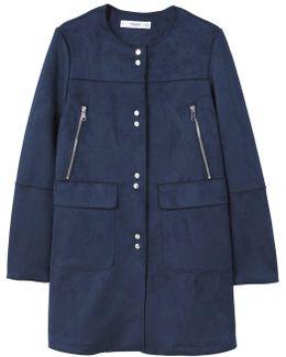 Seams Faux-suede Coat