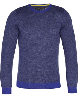 Cinamon Interest Stitch Wool-blend Jumper