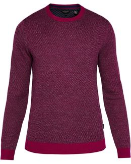 Cinamon Interest Stitch Wool-blend Jumper