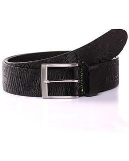 'torialo'   Leather Allover Logo Belt