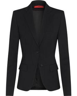 Regular-fit Blazer In Virgin Wool By Woman