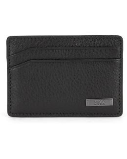 Leather Card Case In A Mixture Of Textures: 'element_s Card'