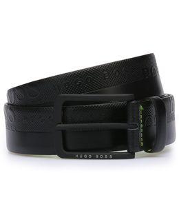 'toluca'   Embossed Leather Belt