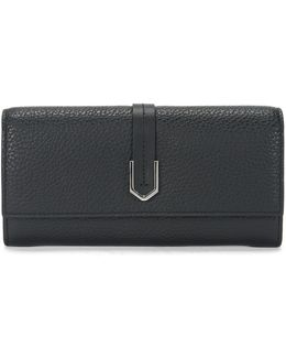 Leather Wallet With Geometric Hardware