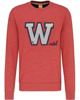 Regular-fit Sweatshirt In Cotton With Front Patch: 'wariety'