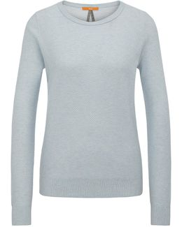 Relaxed-fit Sweatshirt In Cotton Blend With Silk In A Honeycomb Texture: 'injkey_2'
