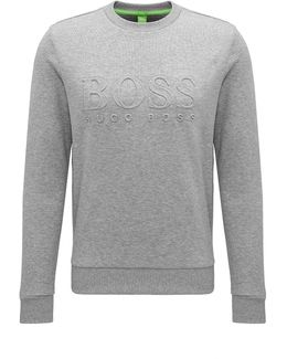Slim-fit Cotton-blend Sweatshirt With Embossing