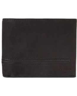 Trifold Leather Wallet With Bombé Stitching