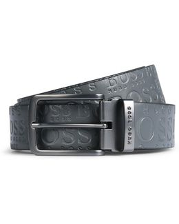 Leather Belt With Contrast Logo-detail Reverse