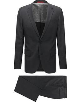 Slim-fit Suit In A Micro-patterned Virgin-wool Blend