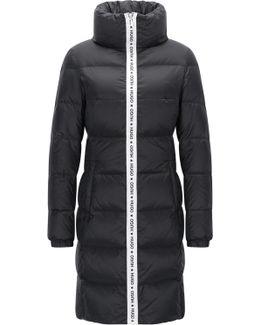 Regular-fit Coat In Water-repellent Fabric