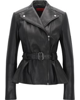 Regular-fit Biker Jacket In Smooth Leather