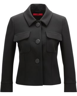 Relaxed-fit Jacket In Double-faced Fabric