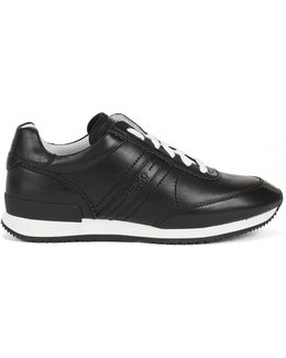 Full-leather Trainers With Rubber Sole