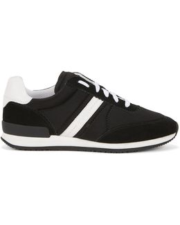 Panelled Trainers In Suede And Leather