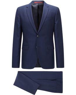Extra-slim-fit Suit In Micro Patterned Virgin Wool