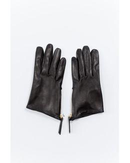 Madeleine Short Zip Glove Black