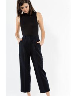 High Waisted Wool Trouser