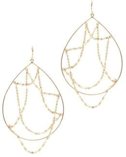 Oval Web Hoop Earrings