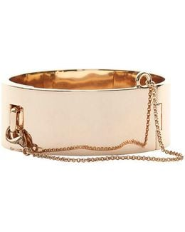 Safety Chain Gold-tone Cuff