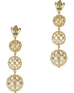 Tiered Pineapple Earrings
