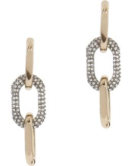 Pavé Link Earrings