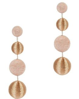 Blush And Gold Gumball Drop Earrings