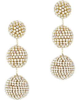 Rhinestone Gumball Drop Earrings