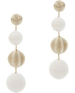 White And Gold Gumball Drop Earrings
