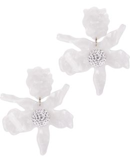 Crystal Lily Ivory Earrings