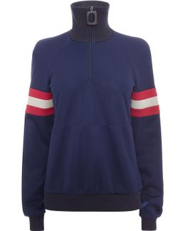 Midnight Blue Sports Zipper Sweat